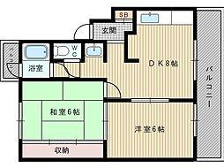 東亜マンション[3階]の間取り
