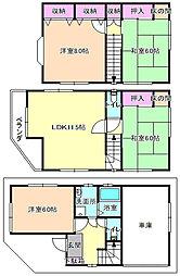 [一戸建] 大阪府枚方市松丘町 の賃貸【/】の間取り