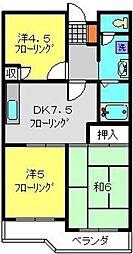 エクセレントビュー第3[202号室]の間取り