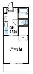 神奈川県伊勢原市神戸の賃貸アパートの間取り
