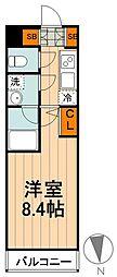 都営三田線 蓮根駅 徒歩8分の賃貸マンション 1階1Kの間取り