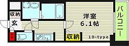 S-RESIDENCE野江(エスレジデンス野江) 9階1Kの間取り