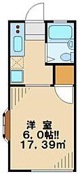 東京都多摩市一ノ宮4の賃貸アパートの間取り