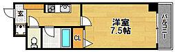 阪急京都本線 相川駅 徒歩4分の賃貸マンション 5階1Kの間取り