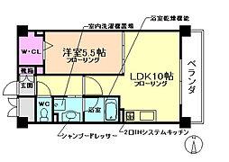 大阪府豊中市小曽根5丁目の賃貸マンションの間取り