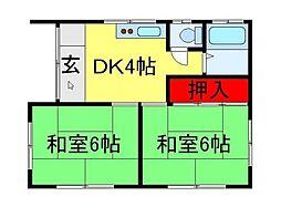 [一戸建] 千葉県流山市名都借 の賃貸【/】の間取り