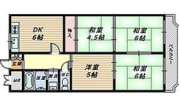 寺田ハイツ[3階]の間取り