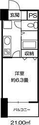 ドミール錦糸町[0406号室]の間取り