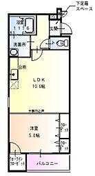 Osaka Metro御堂筋線 北花田駅 徒歩10分の賃貸アパート 2階1LDKの間取り