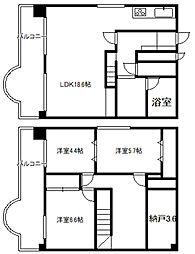 エンドレス三井リバーサイド[13階]の間取り
