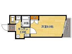 リリーフ薬院[2階]の間取り