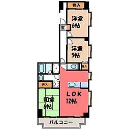 スカイシティー神山[7階]の間取り