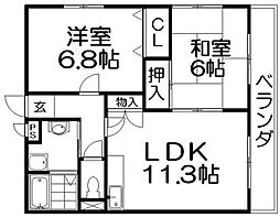 スピカハイム[1階]の間取り