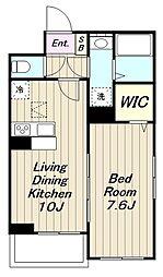 JR南武線 宿河原駅 徒歩10分の賃貸アパート 3階1LDKの間取り