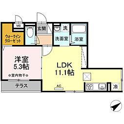 仮)D-Room鎌倉台[1階]の間取り