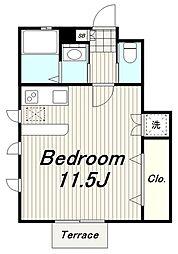 JR南武線 矢野口駅 徒歩4分の賃貸アパート 1階1LKの間取り