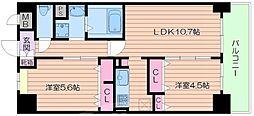 FELIZ VIDA 福島[7階]の間取り