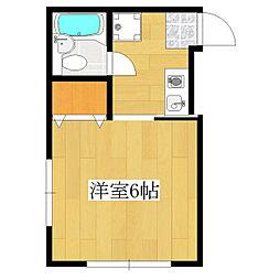 東京都北区王子4丁目の賃貸アパートの間取り