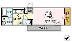 JR御殿場線 御殿場駅 徒歩12分の賃貸アパート 2階1Kの間取り