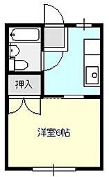 吉岡コーポ[2階]の間取り