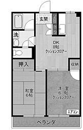 マンションセラヴィ[2階]の間取り