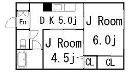 松尾ビル[304号室]の間取り