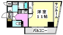 阪急京都本線 南茨木駅 徒歩5分の賃貸マンション 5階1Kの間取り