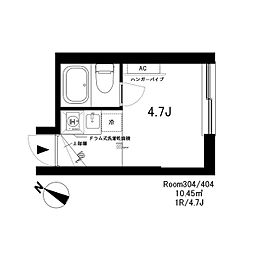 SH3198[4階]の間取り