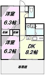 埼玉県川越市藤倉2丁目の賃貸アパートの間取り