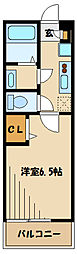 JR南武線 久地駅 徒歩11分の賃貸アパート 2階1Kの間取り