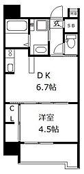 ウィステリア桜坂ヒルズ[4階]の間取り
