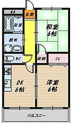 コーポ三上[3階]の間取り