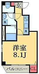 JR京葉線 蘇我駅 徒歩4分の賃貸マンション 5階1Kの間取り