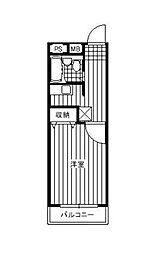 ラ・ミュール[2階]の間取り