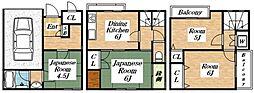 [一戸建] 大阪府大阪市生野区小路2丁目 の賃貸【大阪府 / 大阪市生野区】の間取り