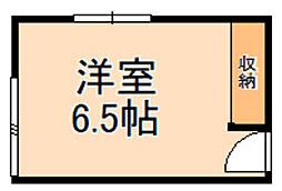 国際文化公園都市モノレール 豊川駅 徒歩15分の賃貸アパート 2階ワンルームの間取り