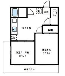 諏訪マンション[303号室]の間取り