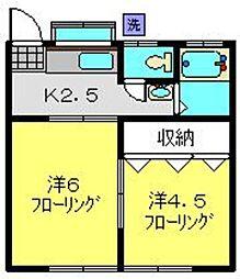 増山ハイツ[102号室]の間取り