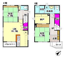 [一戸建] 東京都大田区南六郷1丁目 の賃貸【/】の間取り