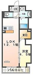 仮)本町新築マンション 2階1LDKの間取り