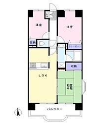 ライオンズマンション倉敷日ノ出町[4階]の間取り