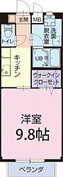 JR東海道本線 新所原駅 徒歩18分の賃貸アパート 1階1Kの間取り