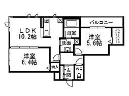 ブライトコート殿ケ谷戸[4階]の間取り