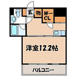 栃木県宇都宮市鶴田3丁目の賃貸マンションの間取り