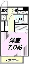 東京都八王子市千人町1丁目の賃貸マンションの間取り