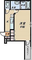 サンシーブル 三国ヶ丘[3階]の間取り