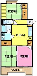 埼玉県さいたま市見沼区大字南中野の賃貸マンションの間取り