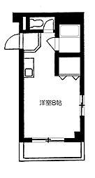 パティオ箱崎[105号室]の間取り