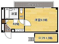 ビバリーハウス南福岡II[2階]の間取り