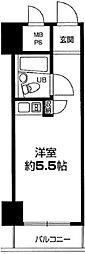 入谷センチュリープラザ21 4階ワンルームの間取り